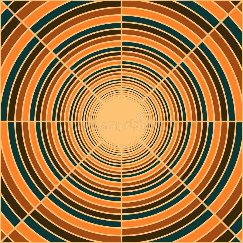 Tubo profundo abstracto, luz en el extremo del túnel ilustración del vector