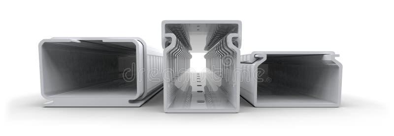 Tubo protettivo per conduttori di plastica fotografia stock