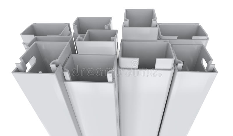 Tubo protettivo per conduttori di plastica immagine stock