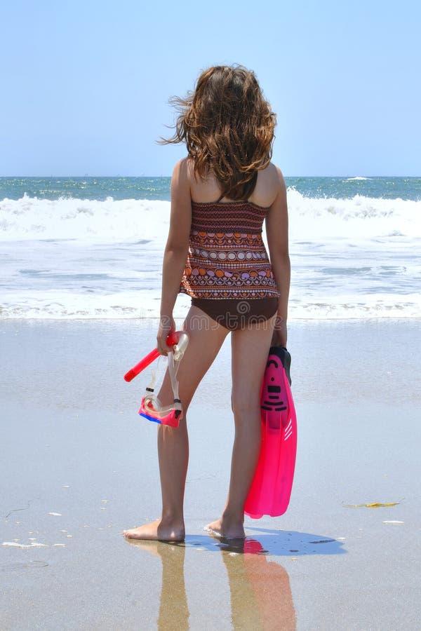 Tubo respirador en la playa imagen de archivo libre de regalías