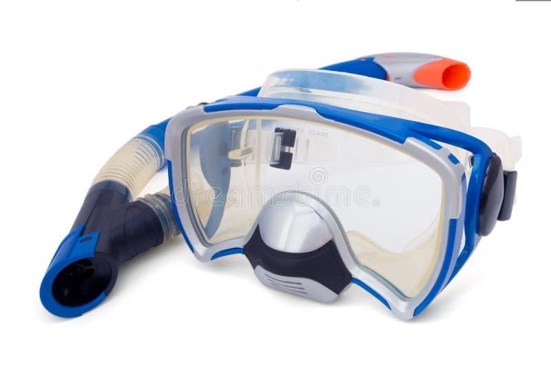 Tubo respirador y máscara del salto fotos de archivo