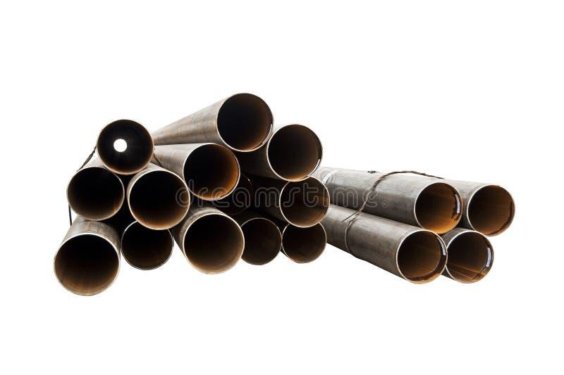 Tubo rotondo del metallo del gruppo fotografia stock