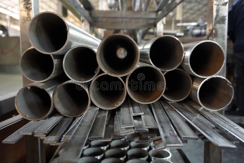 Tubo rotondo dell'acciaio inossidabile immagini stock libere da diritti