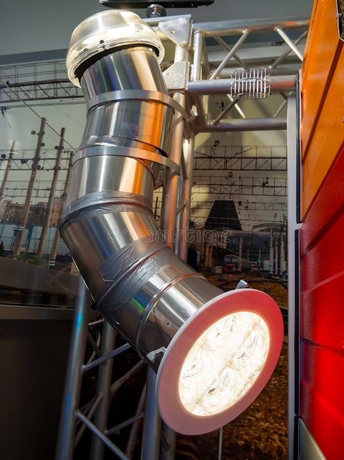 Tubo solar del tubo-lightguide para los edificios industriales fotografía de archivo