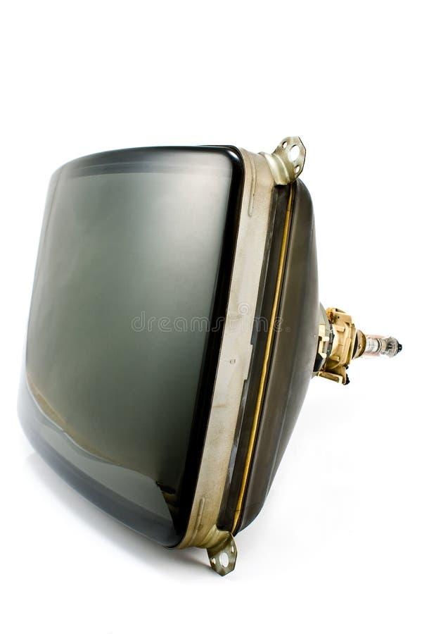 Tubo viejo del cátodo de la televisión fotografía de archivo libre de regalías