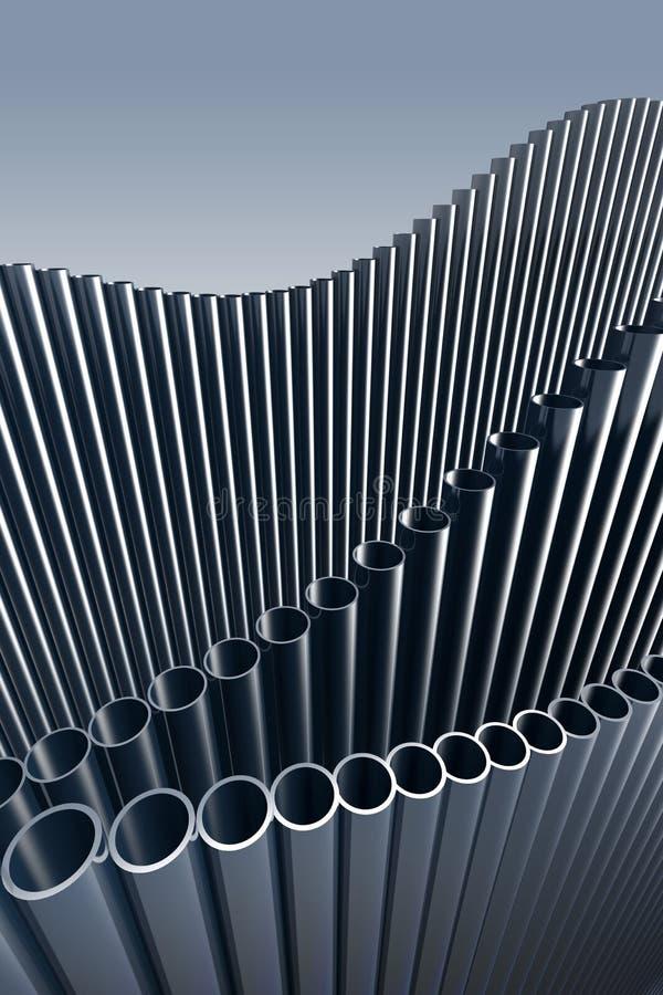 tubos 3d ilustración del vector