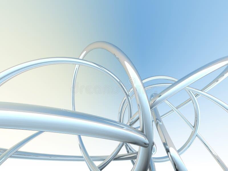 Tubos abstractos ilustración del vector