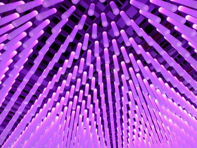 Tubos abstratos da iluminação imagem de stock