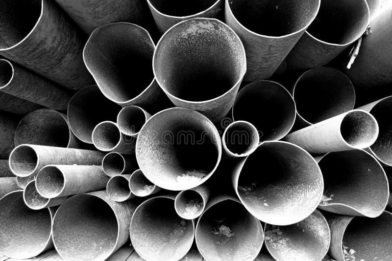 Tubos apilados fotografía de archivo libre de regalías