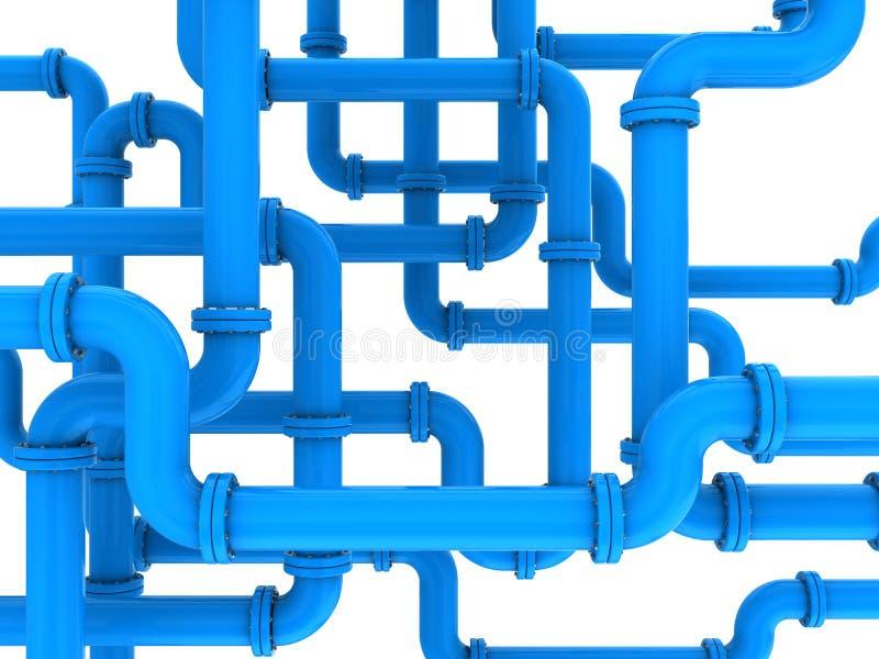 Tubos azules stock de ilustración