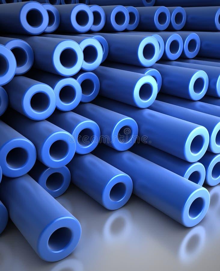 tubos azules 3d libre illustration