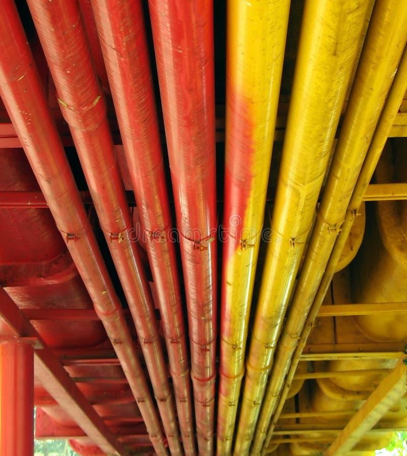 Tubos coloridos fotografía de archivo