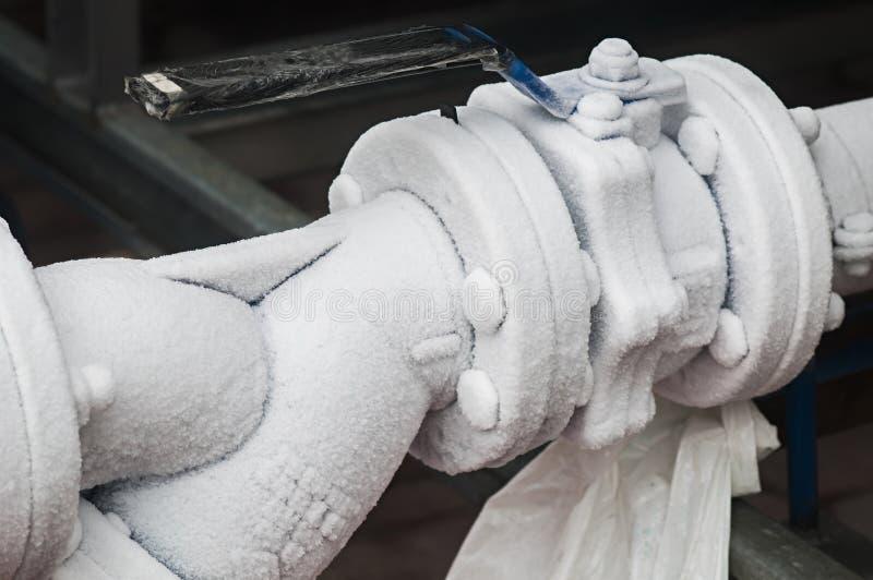 Tubos congelados imagen de archivo libre de regalías