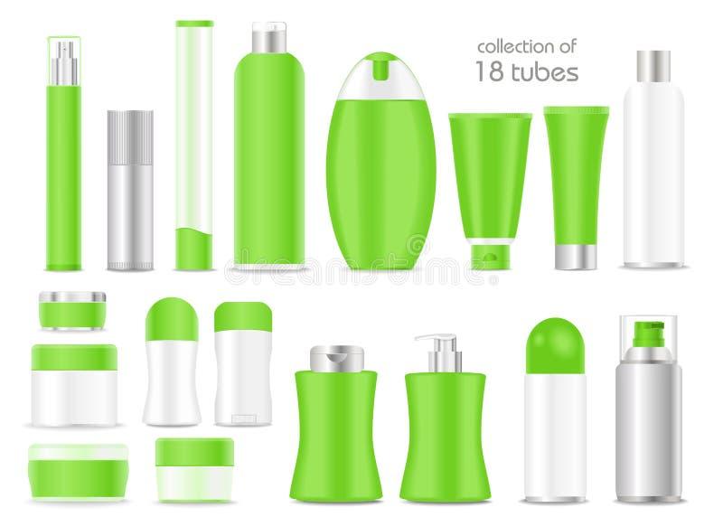 Tubos cosméticos en blanco en el fondo blanco libre illustration