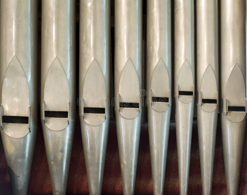 Tubos de órgano viejos foto de archivo