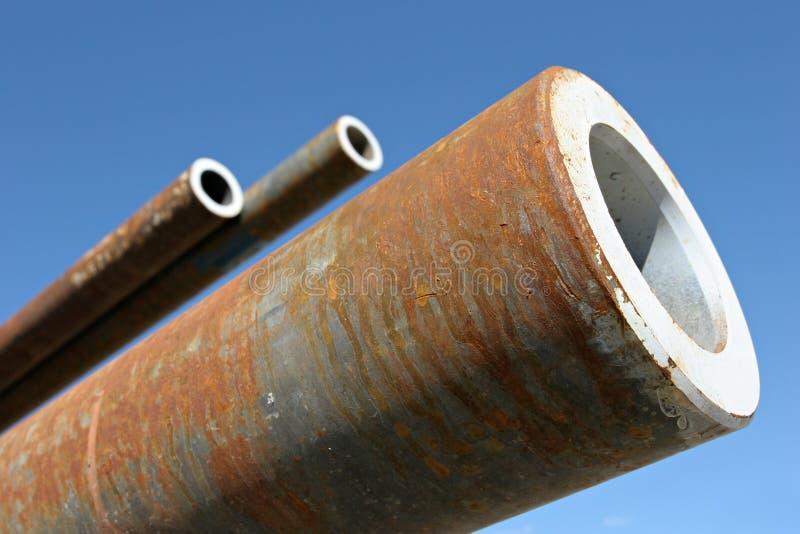 Tubos de acero imagen de archivo libre de regalías