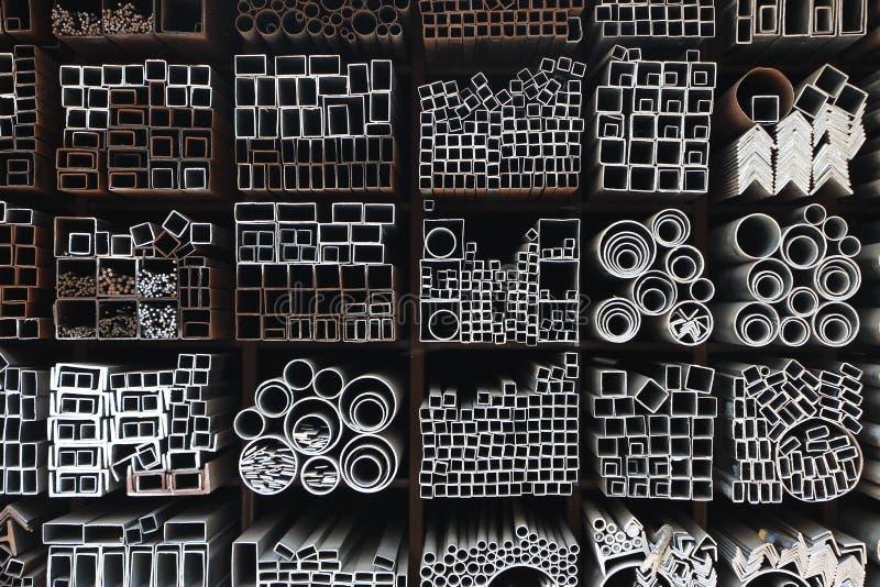 Tubos de acero foto de archivo