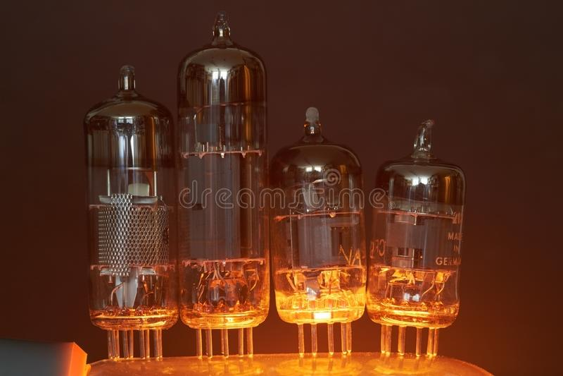 Tubos de elétrons imagem de stock