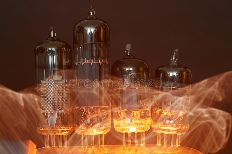 Tubos de elétrons fotografia de stock royalty free