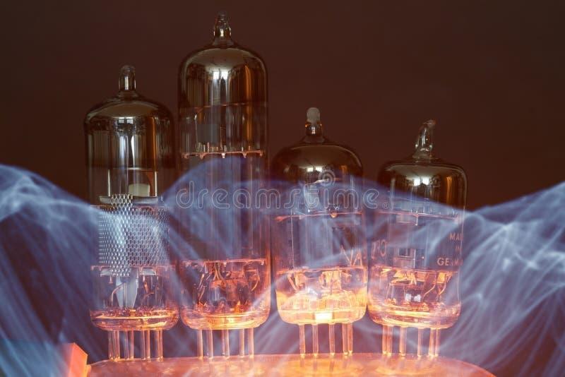 Tubos de elétrons imagem de stock royalty free