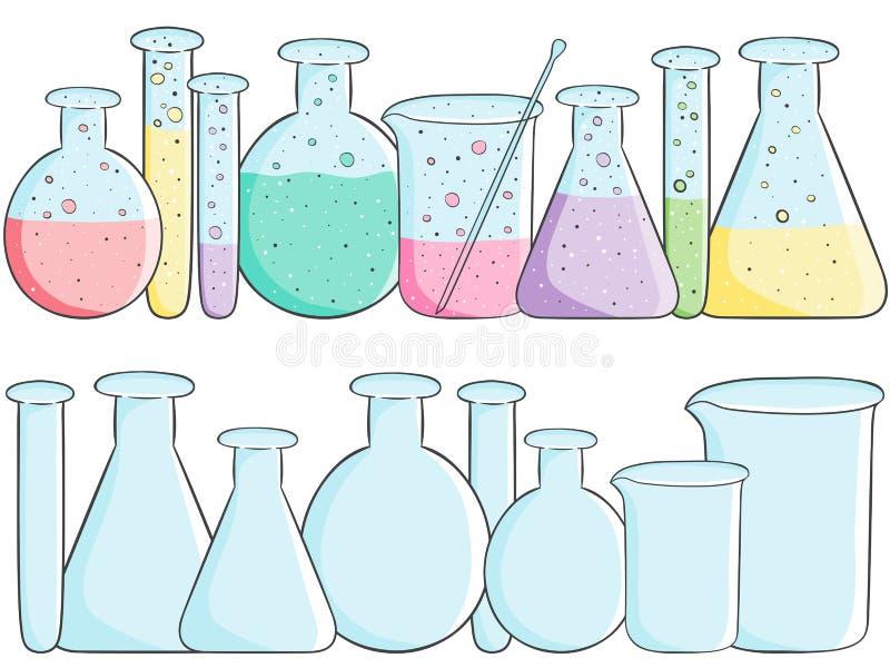 Tubos de ensayo del laboratorio libre illustration