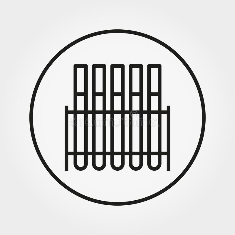 Tubos de ensayo del laboratorio Icono universal Vector Línea fina Editable ilustración del vector