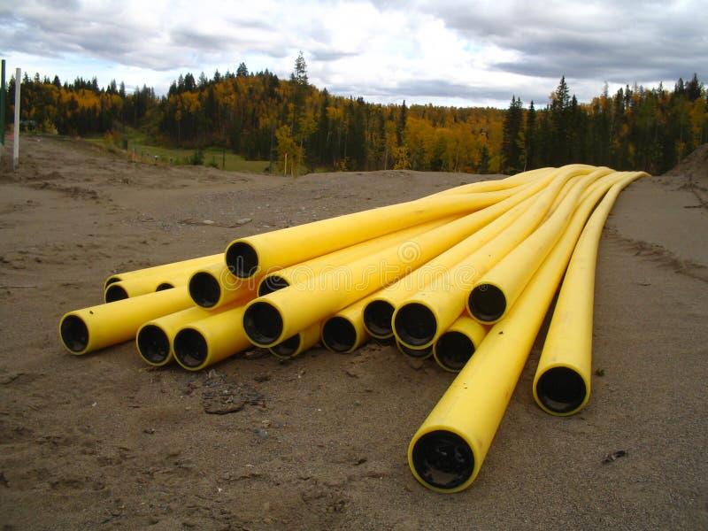 Tubos de gas natural fotos de archivo libres de regalías