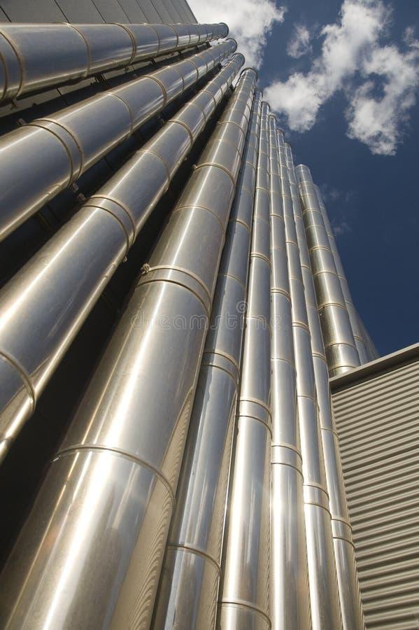tubos de la Aire-condición imagenes de archivo