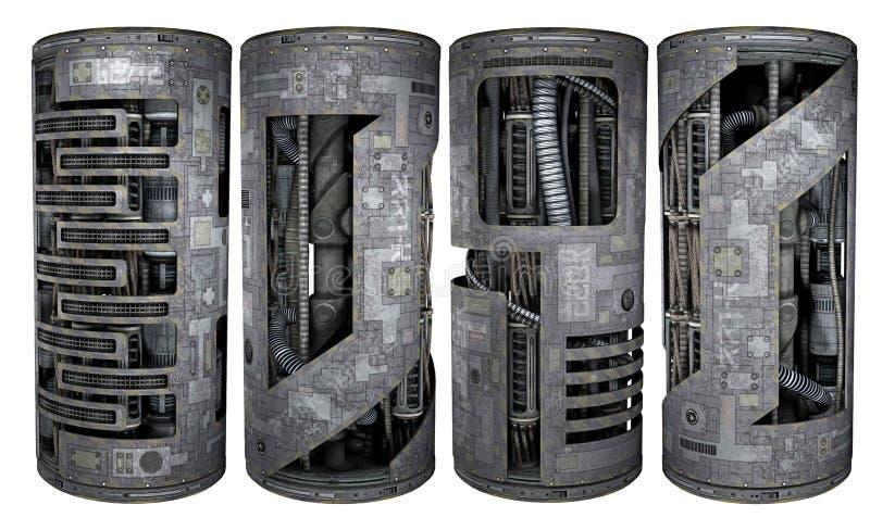 Tubos de la ciencia ficción libre illustration