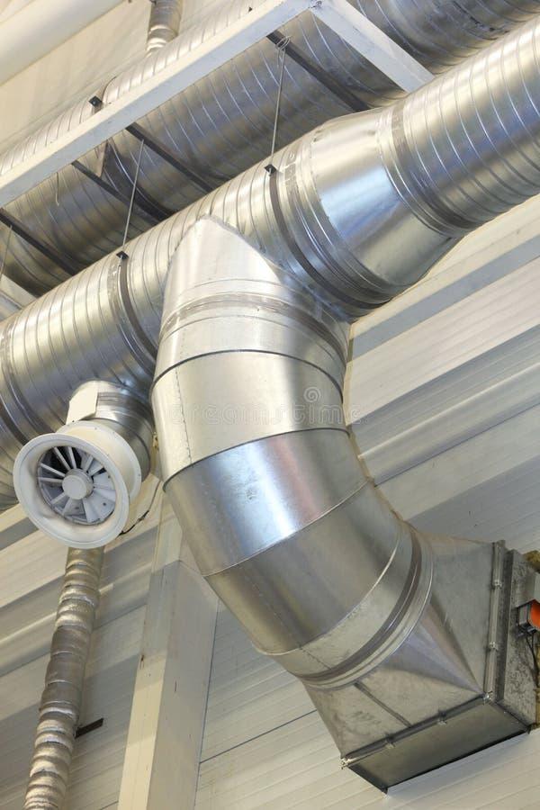 Tubos de la ventilación fotos de archivo libres de regalías