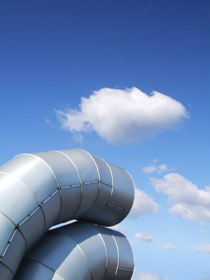 Tubos de la ventilación. imagen de archivo
