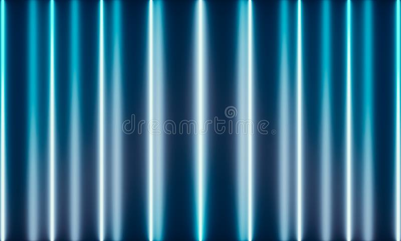 Tubos de ne?n con la luz maravillosa stock de ilustración