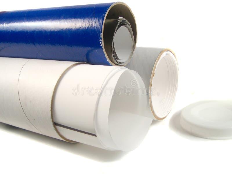 Tubos de papel imágenes de archivo libres de regalías