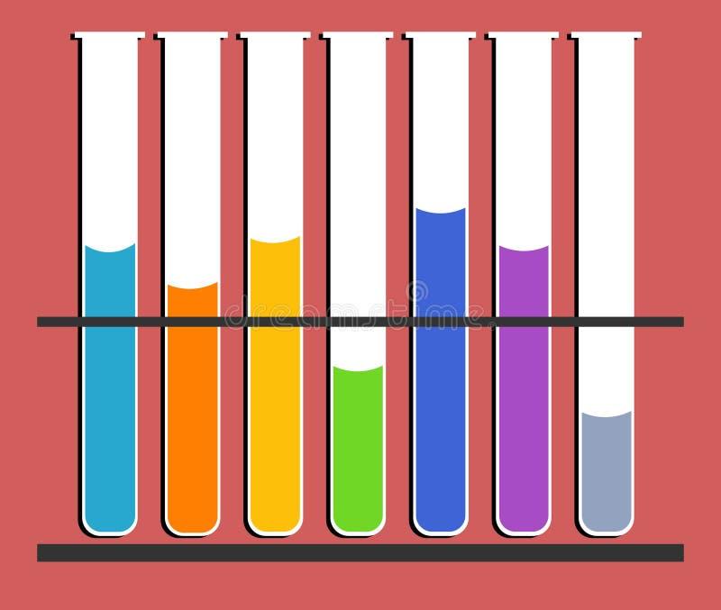 Tubos de prueba stock de ilustración
