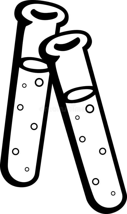 Tubos de prueba de la ciencia libre illustration