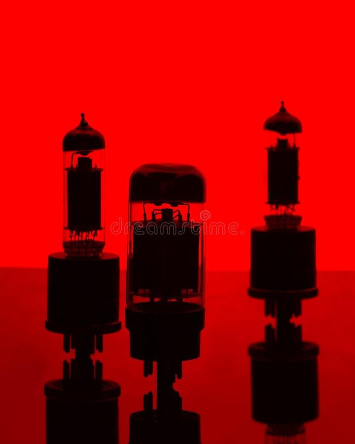 Tubos de vácuo imagem de stock