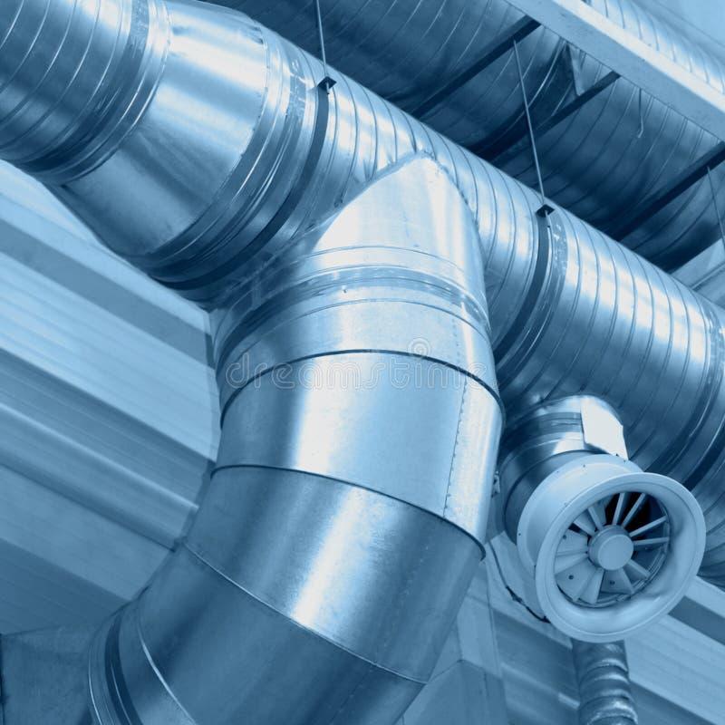 Tubos de ventilación fotografía de archivo