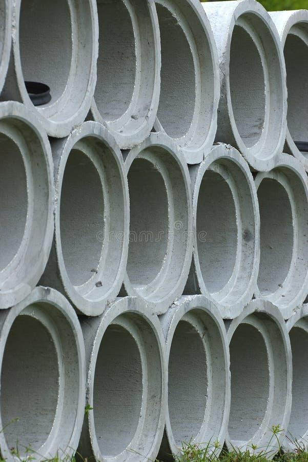 Tubos del cemento fotografía de archivo