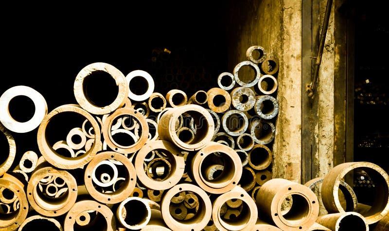 Tubos del desecho del hierro foto de archivo libre de regalías