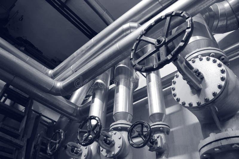 Tubos del gas y de petróleo de la industria fotos de archivo