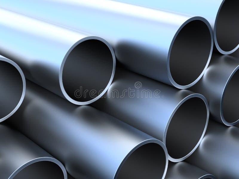 Tubos del metal ilustración del vector