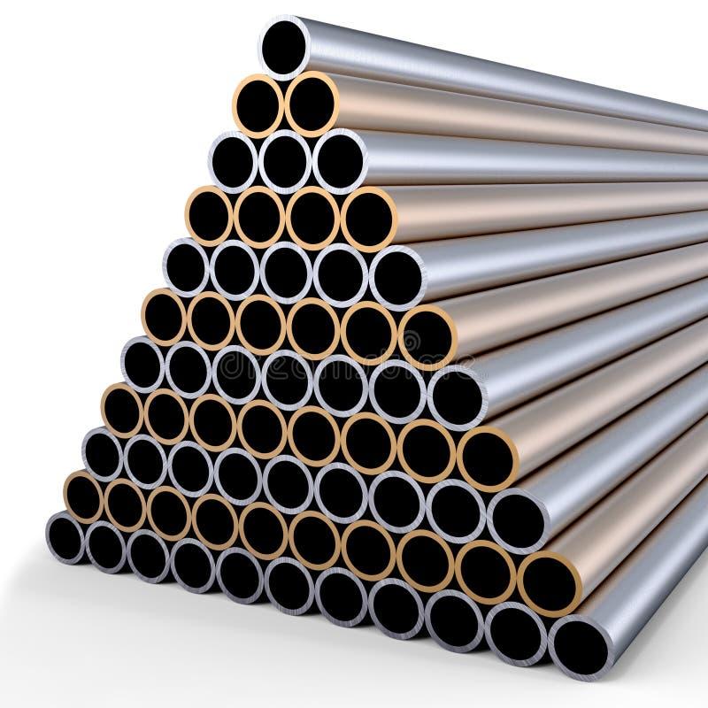 Tubos del metal stock de ilustración