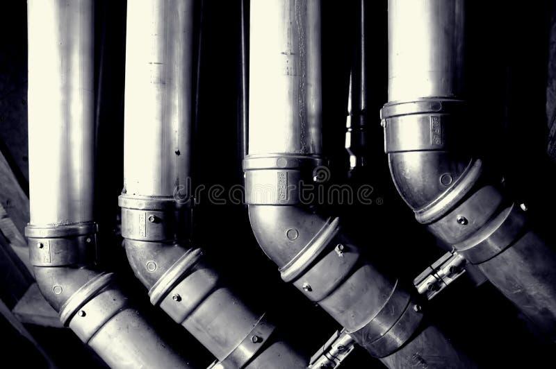 Tubos interiores del edificio fotografía de archivo libre de regalías