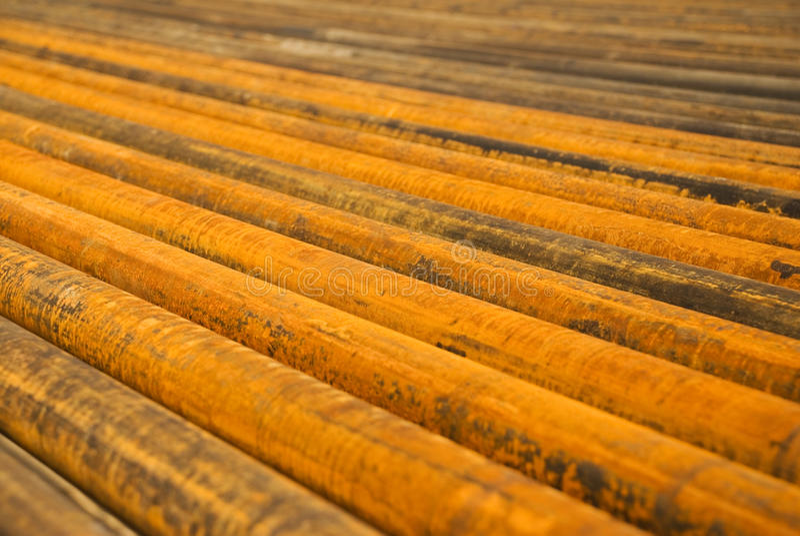 Tubos oxidados fotos de archivo libres de regalías