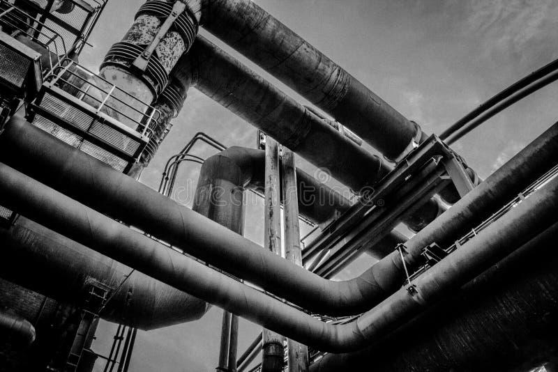Tubos oxidados fotografía de archivo