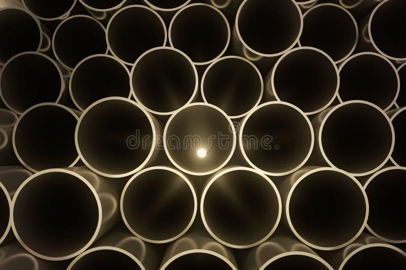 Tubos redondos del metal stock de ilustración