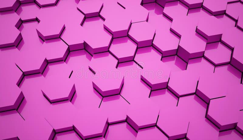 Tubos sextavados cor-de-rosa do fundo ilustração royalty free