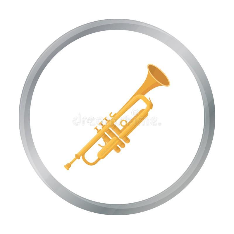 Tubowa ikona w kreskówka stylu odizolowywającym na białym tle Instrumentu muzycznego symbolu zapasu wektoru ilustracja ilustracja wektor