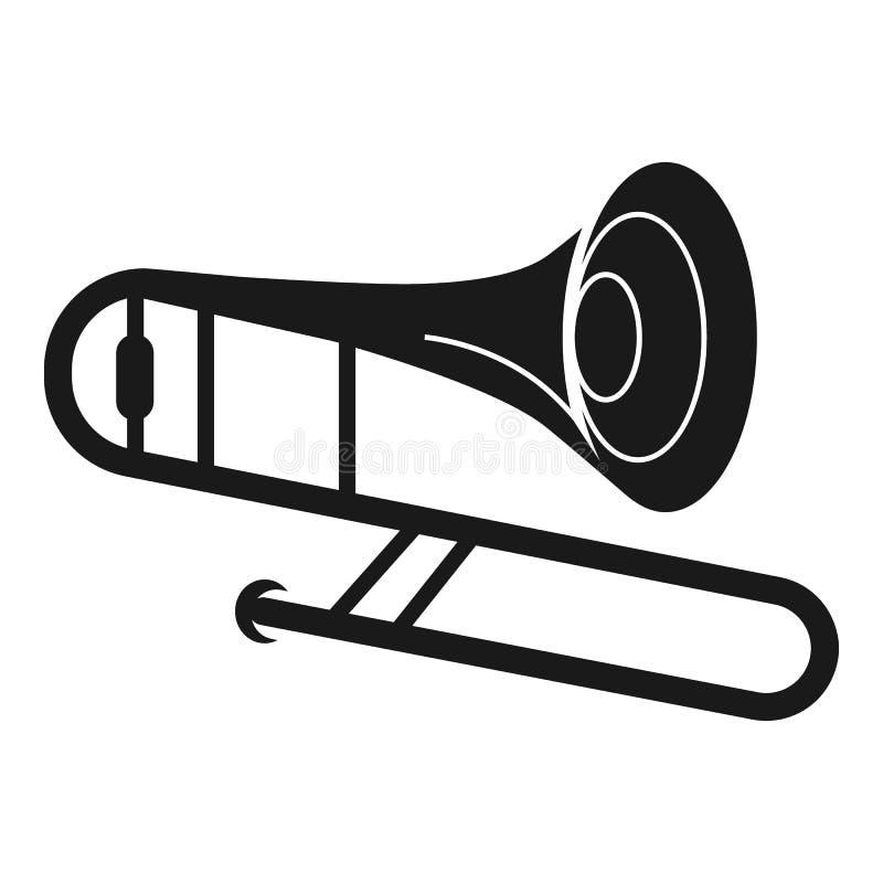 Tubowa instrument ikona, prosty styl ilustracji