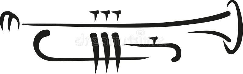 Tubowy kaligrafia styl ilustracji